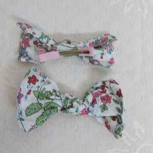 Barrette crocodile tissu Liberty of London