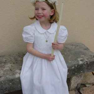 robe fille blanche de communion