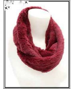 Tour du cou aspect fourrure rose, beige, marron, bordeaux