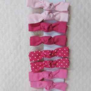 Barrette fille crocodile rose coton noeud
