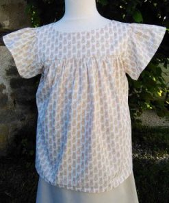 blouse tunique fille volants coton ananas