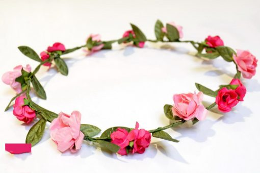 Couronne cortège mariage rose